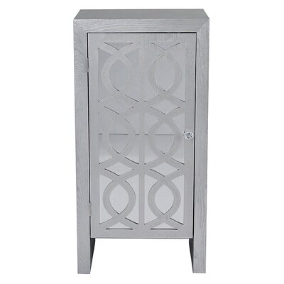 1 Door Cabinet Finish: Silver