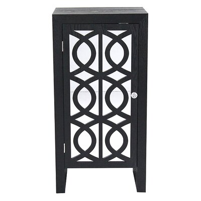 1 Door Cabinet Finish: Black