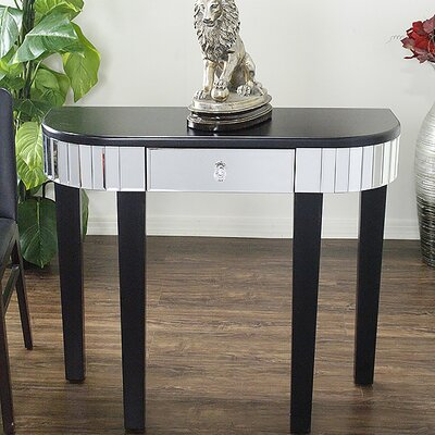 Elenor Mirrored Console Table Finish: Black