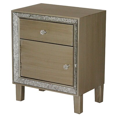 Bon Marche 1 Drawer Nightstand Finish: Champagne