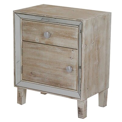 Bon Marche 1 Drawer Nightstand Color: White Wash