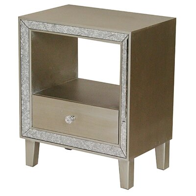 Bon Marche  End Table With Storage Color: Champagne