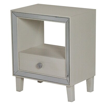 Bon Marche 1 Drawer Nightstand Finish: Antique White