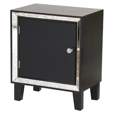 Bon Marche End Table With Storage Color: Black