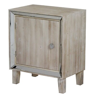 Bon Marche End Table With Storage Color: White Wash