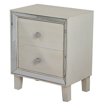 Bon Marche 2 Drawer Nightstand Color: Antique White