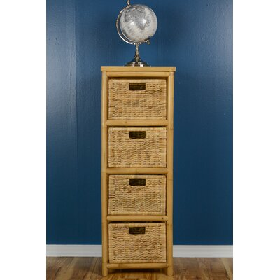 Open Sides Cabinet with 4 Drawers