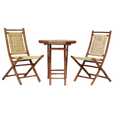 Brandenburg 3 Piece Seating Group Frame Finish: Brown Bamboo