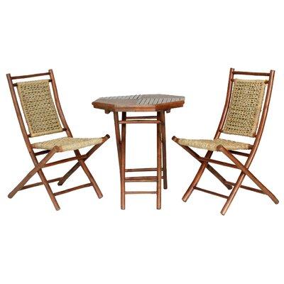 Brandenburg 3 Piece Seating Group Frame Finish: Brown Bamboo