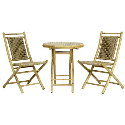 Brandenburg 3 Piece Seating Group Frame Finish: Natural Bamboo