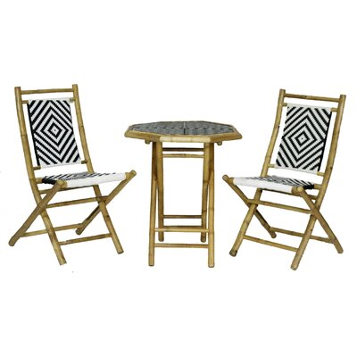 Brandenburg 3 Piece Seating Group Frame Finish: Natural Bamboo