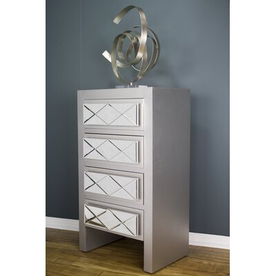 Windmere 4 Drawer Accent Chest Finish: Silver