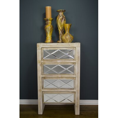 Windmere 4 Drawer Accent Chest Finish: White