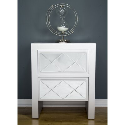 Windmere 2 Drawer Accent Chest Finish: Silver
