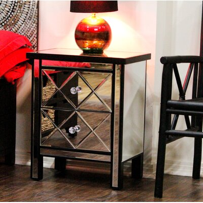 End Table With Storage Color: Black
