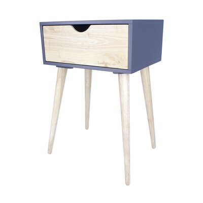 Euro 1 Drawer End Table Color: Graphite