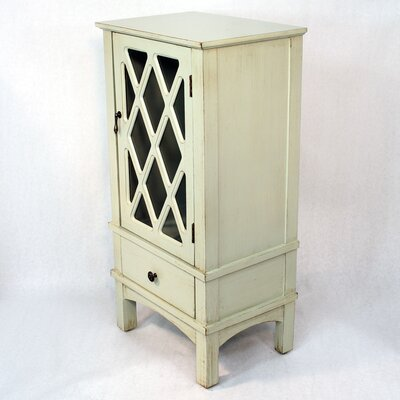 Wooden Cabinet with Glass Insert Finish: Light Green