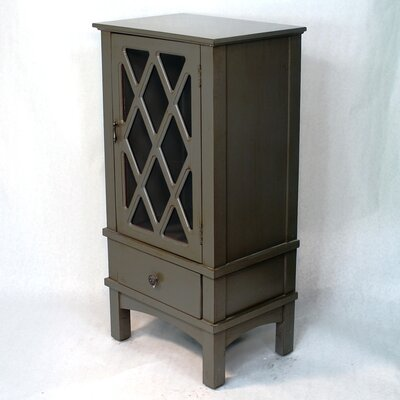 Wooden Cabinet with Glass Insert Finish: Dark Gray