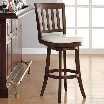 30 Swivel Bar Stool Upholstery: Cream
