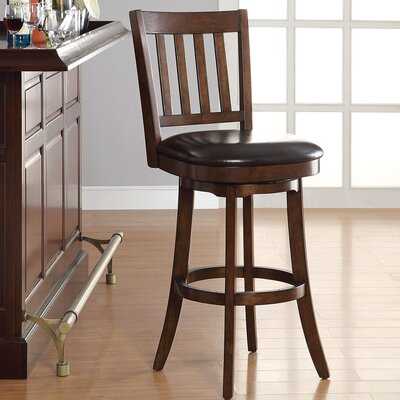 30 Swivel Bar Stool Upholstery: Espresso