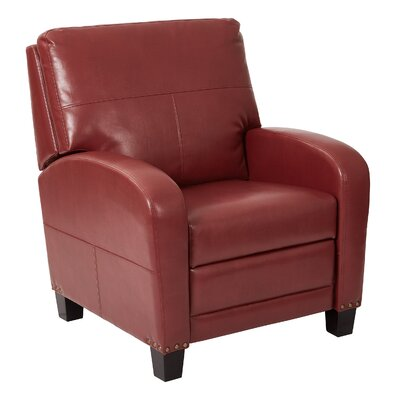 Wellington Manual Recliner Color: Merlot