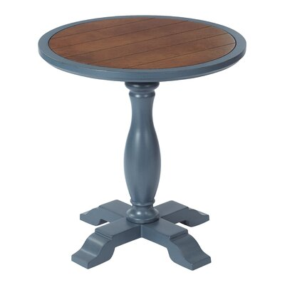 Aveline Round End Table Finish: French Blue