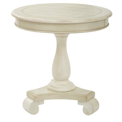 Avalon Round End Table Finish: Antique Beige