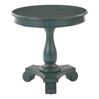 Avalon Round End Table Finish: Antique Carribean Blue