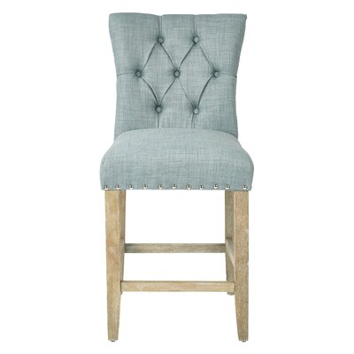Preston 24 Bar Stool Upholstery: Twill - Bluebird