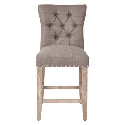 Preston 24 Bar Stool Upholstery: Twill - Dolphin
