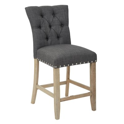 Preston 24 Bar Stool Upholstery: Twill - Charcoal