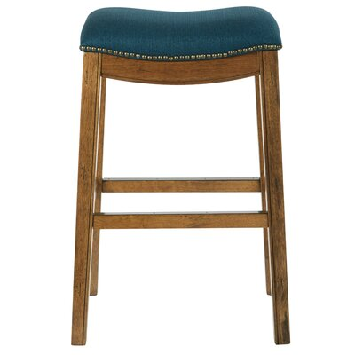 Austin 31 Bar Height Stool Upholstery: Klein Azure