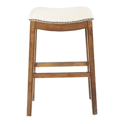 Austin 31 Bar Height Stool Upholstery: Linen