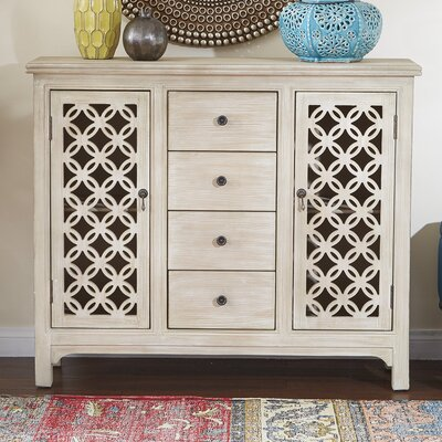 Charlayne Storage 2 Door 4 Drawer Accent Cabinet BBMT6045 41176211