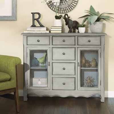 Patin Storage Console Table Finish: Antique Taupe