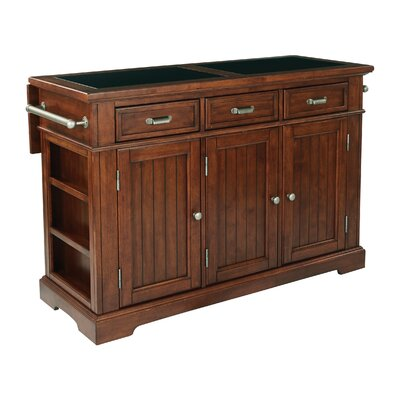 Cintron Large Kitchen Island with Granite Top Base Finish: Vinatge Oak
