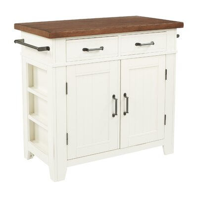 Louison Kitchen Island Base Finish: Distressed White/Vintage Oak
