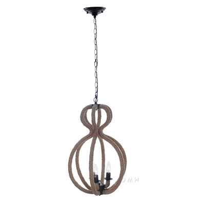 Rope 3-Light Foyer Pendant