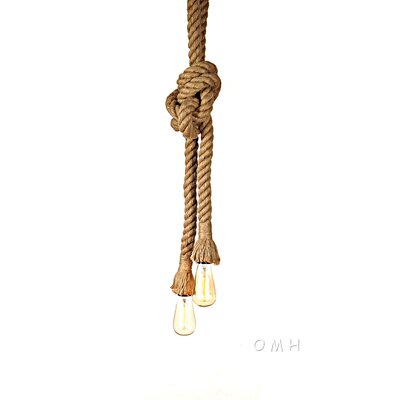 Rope 2-Light Mini Pendant
