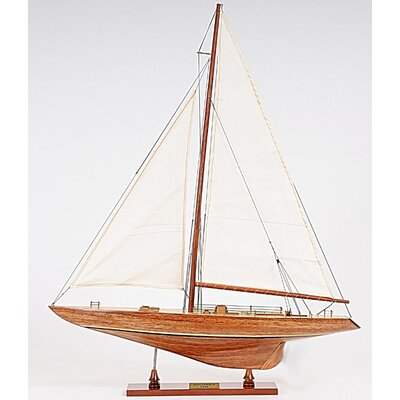 Old Modern Handicrafts Y011 Small Columbia Ship in Brown 899272