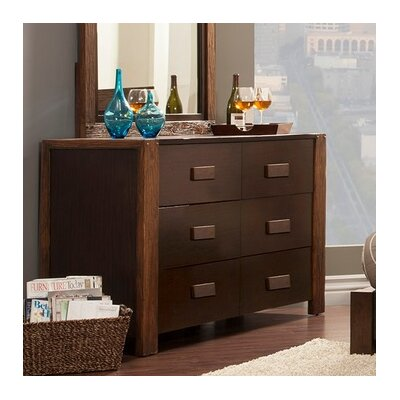 Element 6 Drawer Double Dresser
