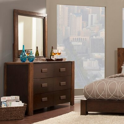 Element 6 Drawer Double Dresser with Mirror