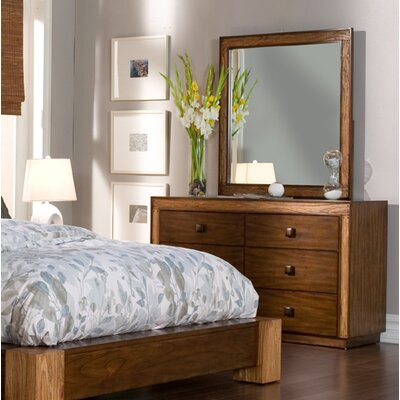 Dorinda 6 Drawer Double Dresser with Mirror