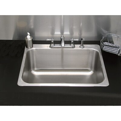 Single Bowl Drop-In Kitchen Sink