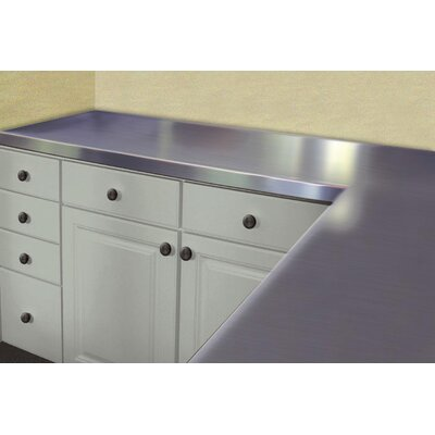 Stainless Steel Counter Top Size: 1.5 H x 48 W x 24 D