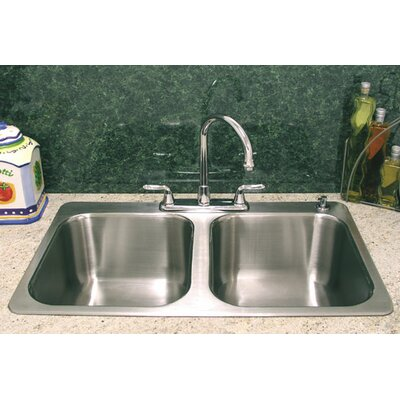 Double Bowl Drop-In Kitchen Sink