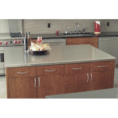 Island Counter Top Size: 1.5 H x 120 W x 49 D