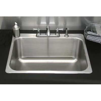 27 x 23 Single Drop-In Utility Sink with Faucet