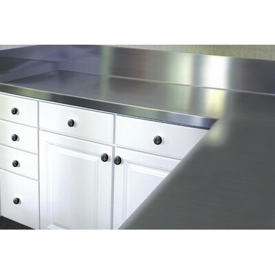 Stainless Steel Counter Top with Blacksplash Size: 13 H x 30 W x 24 D