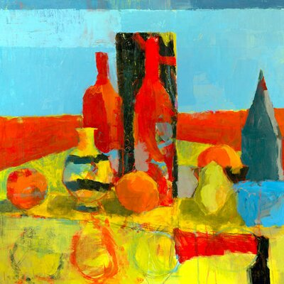 Red, Red Wine by Laurie Breen Painting Print on Wrapped Canvas Size: 24